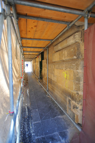 Covered Pedestrian Walkway to safely allow works overhead